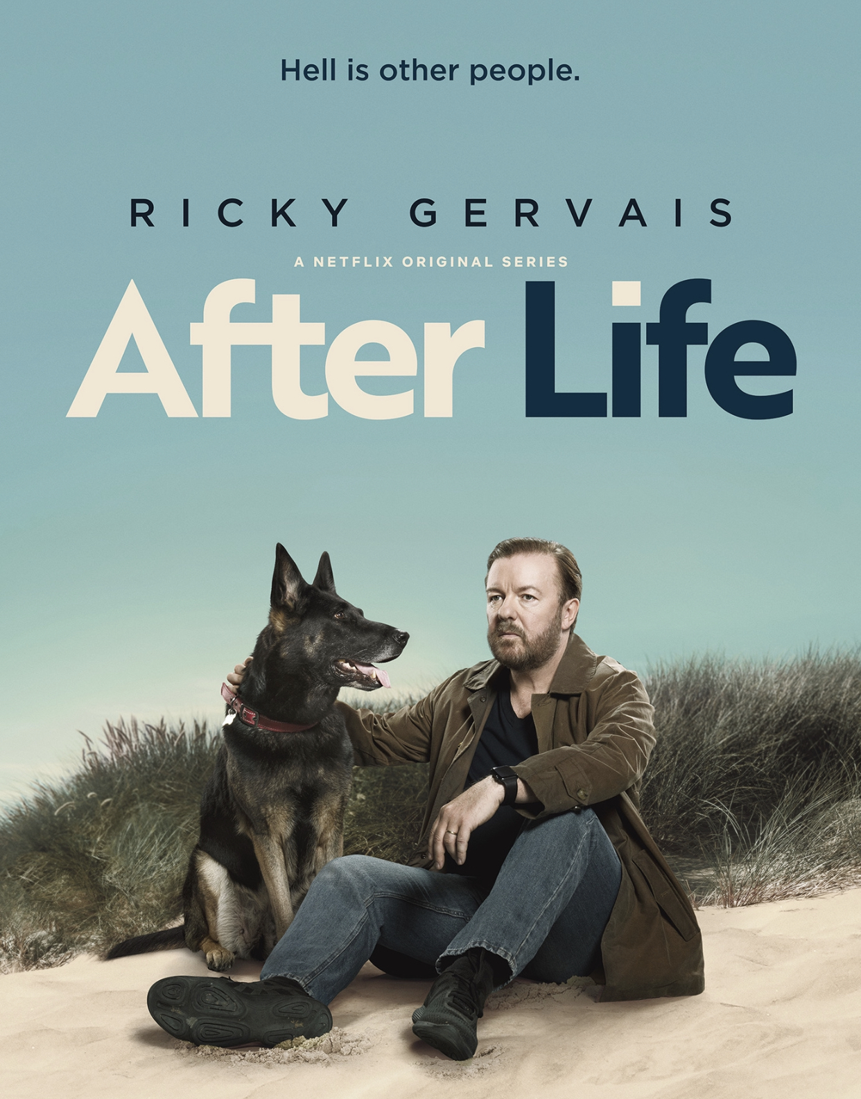 Cover image of the After Life show on Netflix..